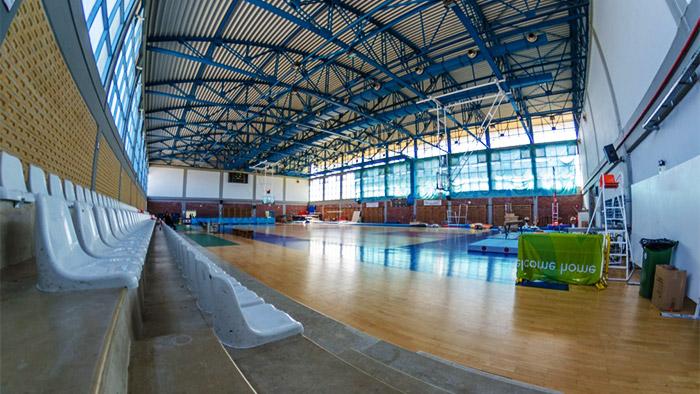 Ο κύριος χώρος του κλειστού γυμναστηρίου